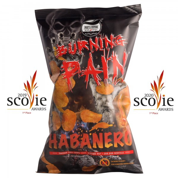 Puszta Peppers Burning Pain Habanero Kartoffelchips - 80g Tüte - 200.000 Scoville