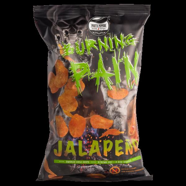 Puszta Peppers Burning Pain Jalapeño Kartoffelchips - 80g Tüte - 8.000 Scoville